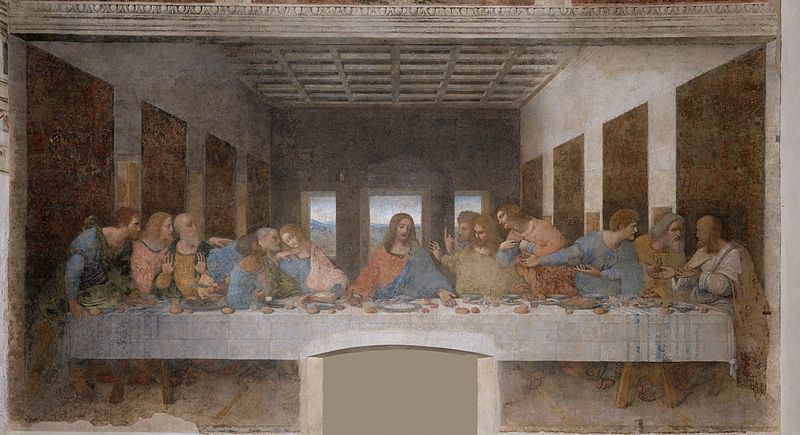 Леонардо да Винчи. Тайная вечеря. 1498
