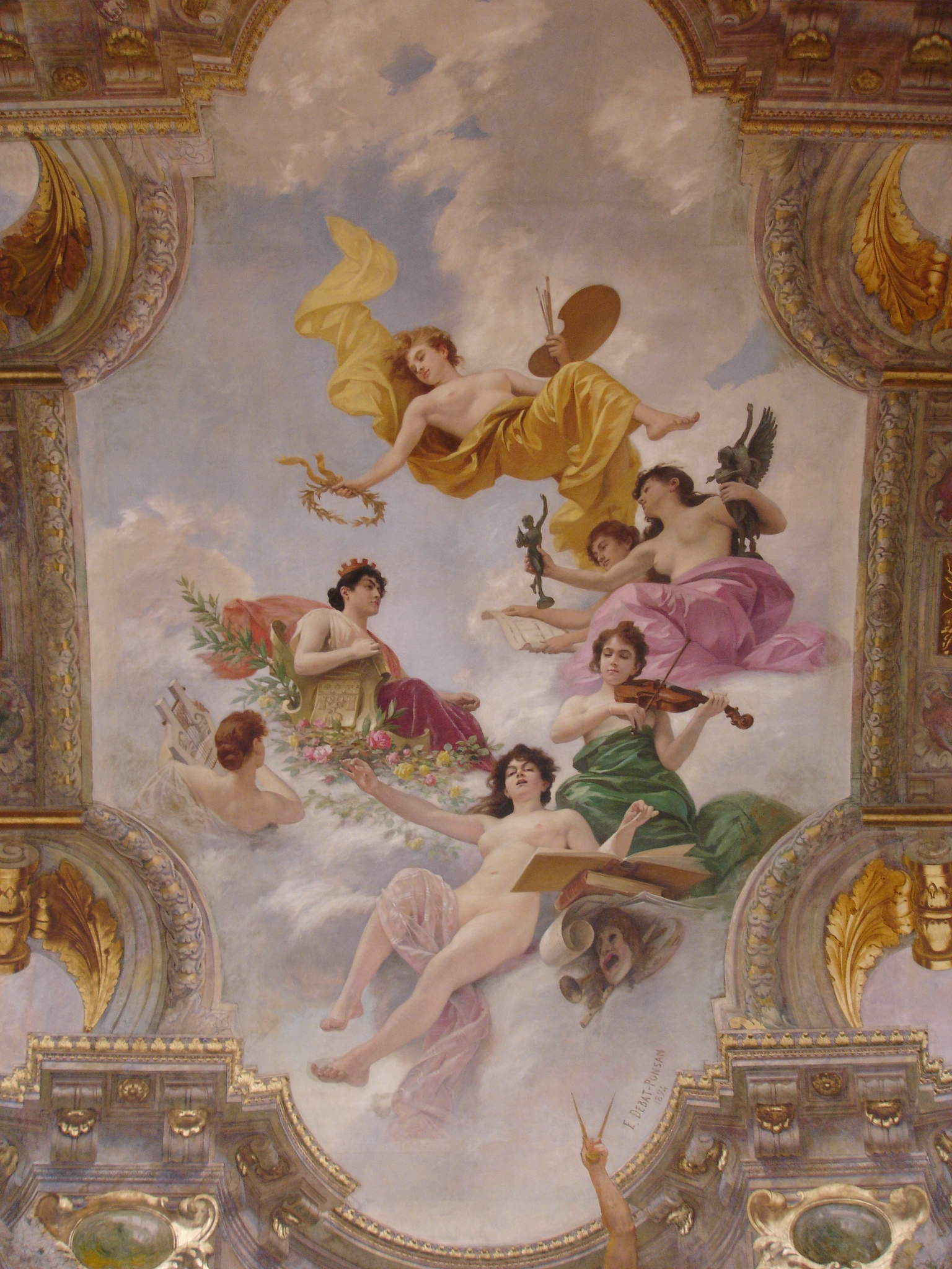 Тулузская ратуша, потолок